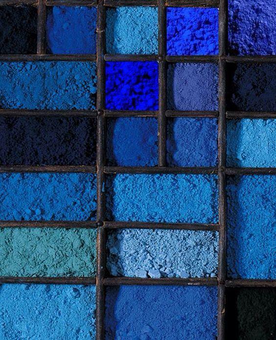 nuancier poudre bleu