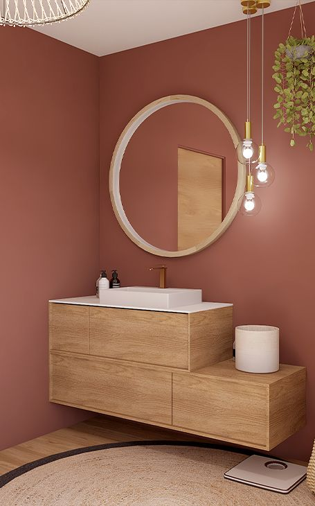 salle de bains terracotta Rhino