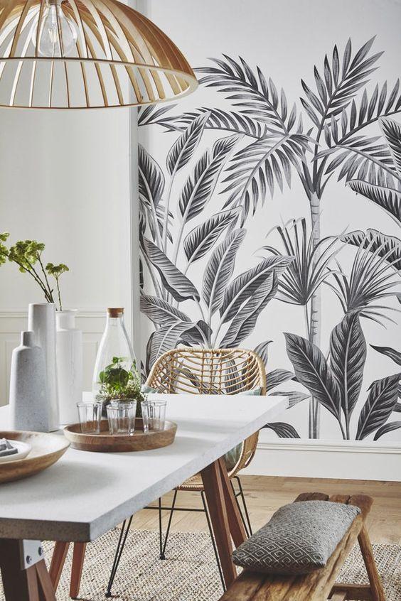 salon papier peint leroy merlin noir et blanc
