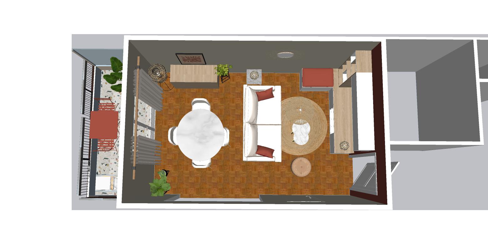Décoration séjour Terracotta